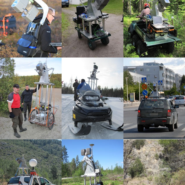 Multiplatform Mobile Laser Scanning (MLS)