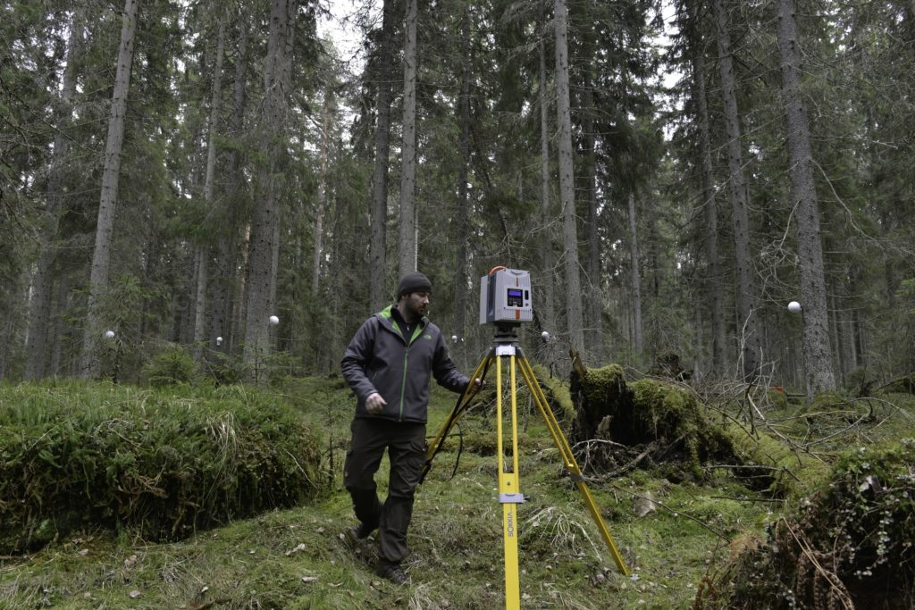 Next generation forest management: High detail information from laser scanning