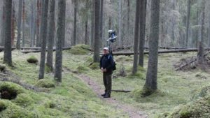 Mobile laser scanning with Akhka