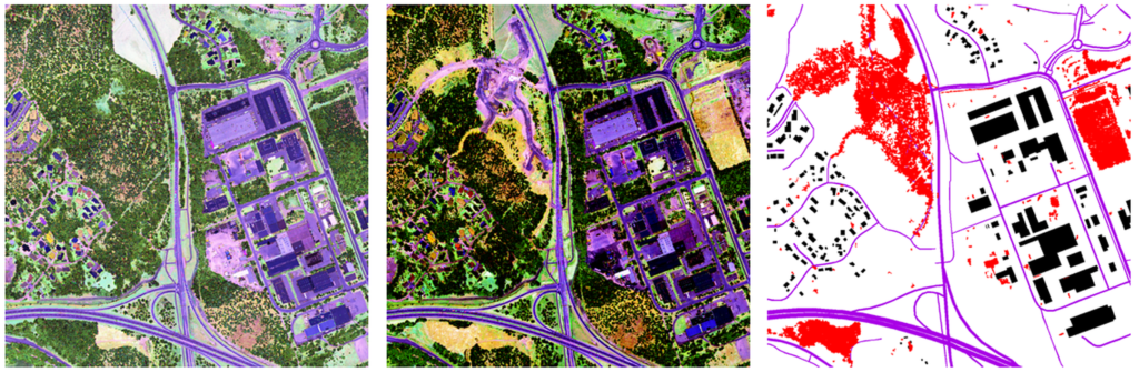 Three intensity images from laser scanner data