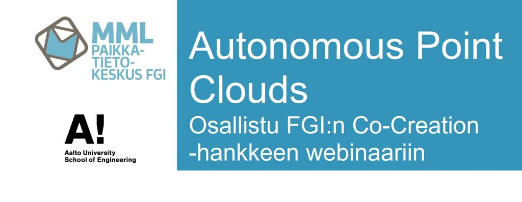 Autonomous Point Clouds -hankkeen webinaarit 1.10. ja 6.10.2020